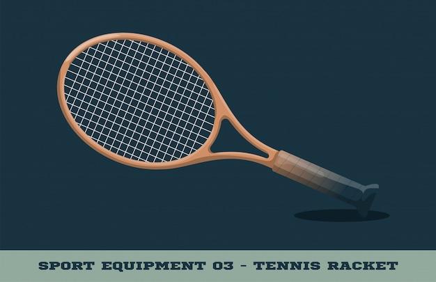 Теннисная ракетка значок. спортивное оборудование