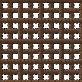 ロープのシームレスなパターン、トレンディなベクトルの壁紙。結び目が付いたコードスタイリッシュな無限の図。ファブリックに使用可能。壁紙、ラッピング、ウェブ、印刷