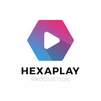 抽象的なプレイメディアのロゴ