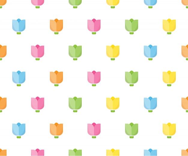 Картина красочного тюльпана безшовная для ткани, упаковочной бумаги.