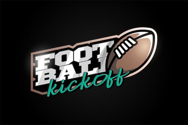 Американский футбол талисман современный профессиональный спорт типография в стиле ретро.