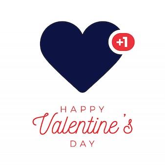バレンタインブルーハートのようなカウンター、コメントフォロワー、通知記号