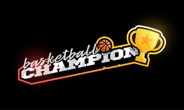Чемпионский баскетбольный логотип.
