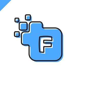ビジネス企業の正方形の文字のフォントのロゴデザインのベクトル。テクノロジーのためのカラフルなデジタルレターアルファベットテンプレート。ピクセルのロゴ