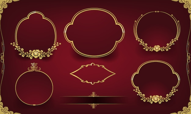 装飾用のゴールデンフレームセット