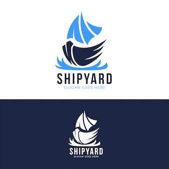造船所のロゴのテンプレート