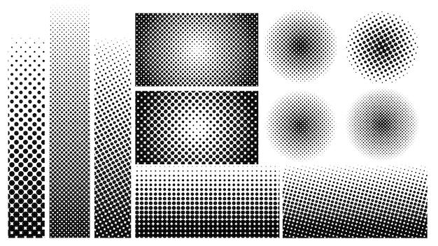 Элемент полутоновых точек в винтажном стиле для украшения.