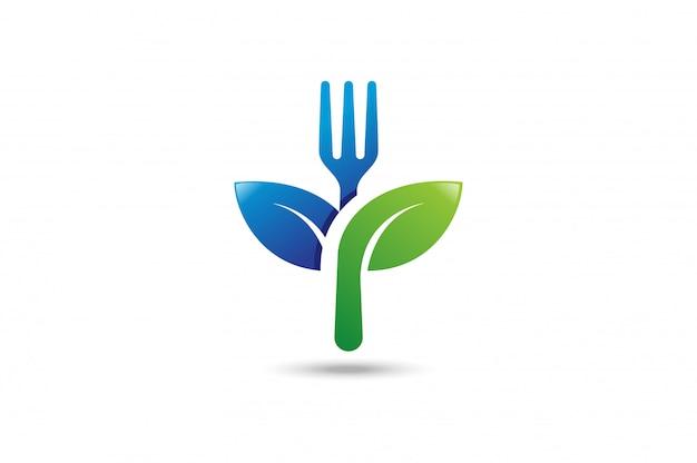健康的な食品のロゴ。