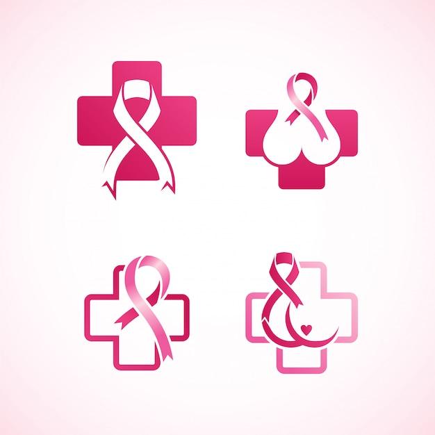女性の乳がんのロゴ