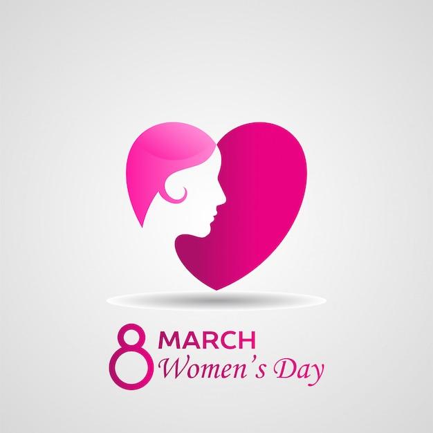 幸せな女性の日のベクトル図