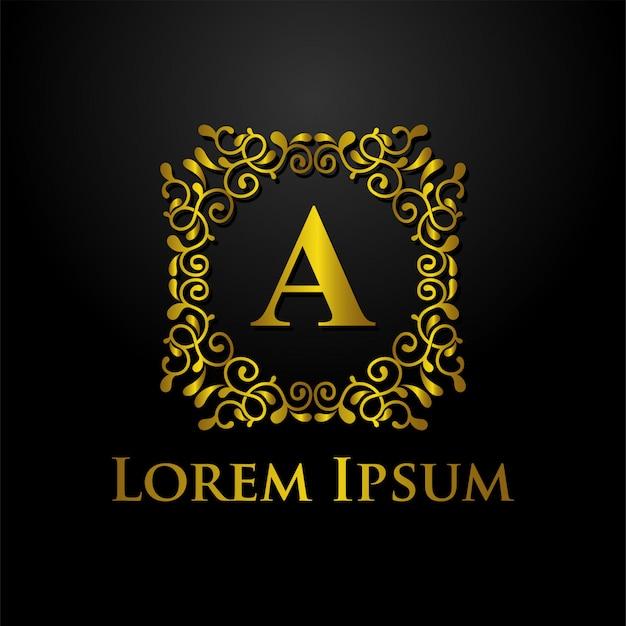 Шаблон логотипа класса люкс