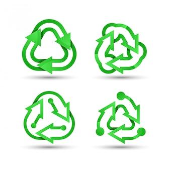 Зеленый логотип переработки