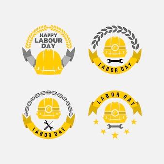 幸せな労働日のベクトル図
