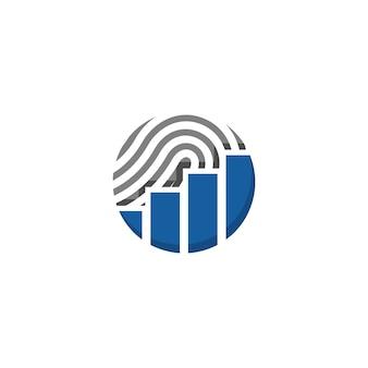 Финансовый логотип отпечатков пальцев