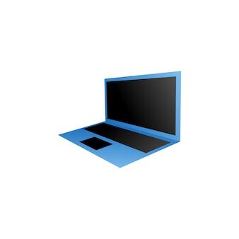 Компьютерный шаблон для ноутбука