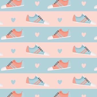 スニーカー靴のパターン。