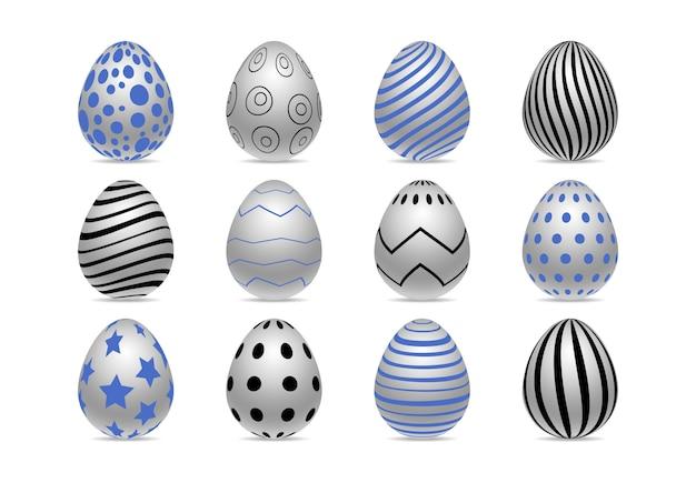 Украшенные реалистичные пасхальные яйца