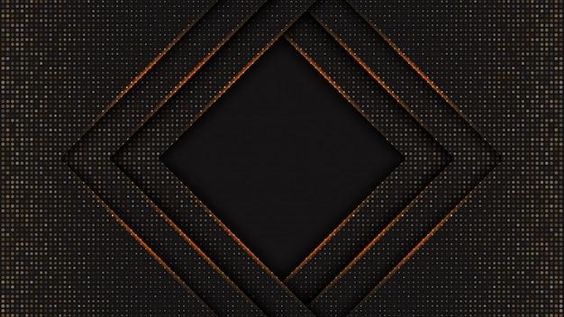 抽象的な黒背景テクスチャバナー