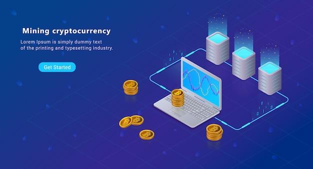 アイソメトリック暗号化ブロックチェーンのマイニング概念、ビットコイン