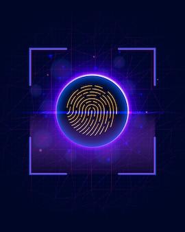 指紋スキャニング識別システム
