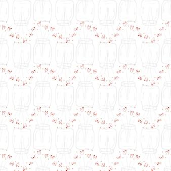 バレンタインデーのテーマにシームレスなベクトルパターン