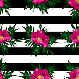 花のシームレスなベクターパターン