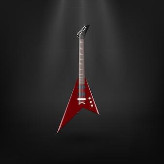 暗闇の中でエレキギター