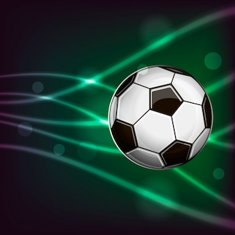 抽象的な背景にサッカーボールのイラスト