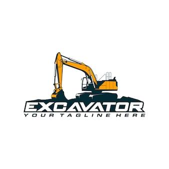 Шаблон логотипа экскаватора