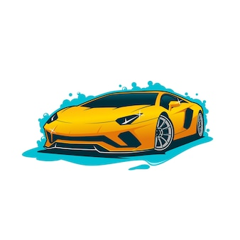 Автомойка иллюстрация