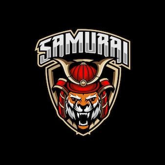 Тигр самурай киберспорт логотип