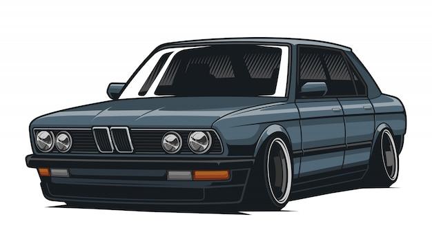 Классическая автомобильная иллюстрация