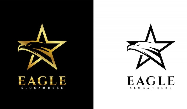 Звездный логотип с орлом