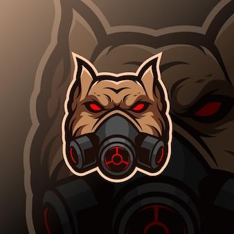 Бульдог талисман киберспорт логотип