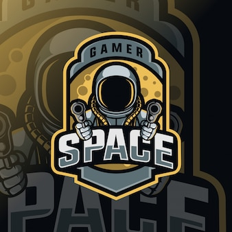Космическая война талисман киберспорт логотип