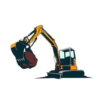 掘削機のベクトル