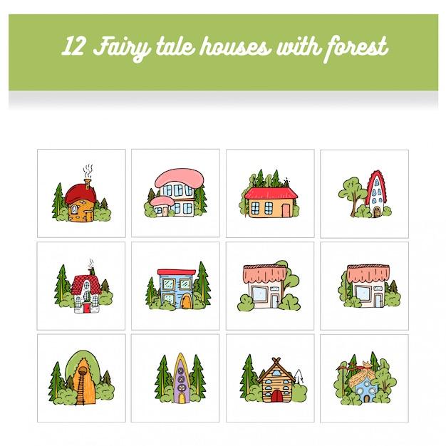Сказочные дома в лесах