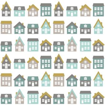 ノルディックスタイルのシームレスな子供部屋のパターン。