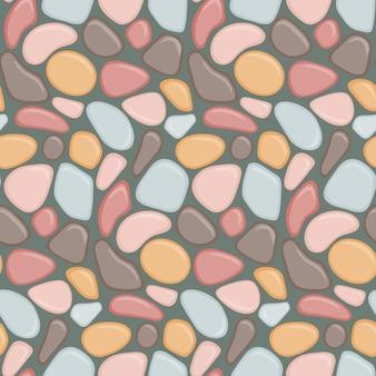 カラフルな石でシームレスなパターン。