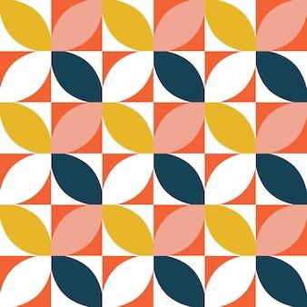 カラフルな幾何学模様のシームレス