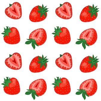 イチゴとシームレスなパターン。
