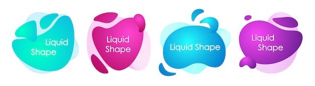 抽象的な液体図形のセットです。