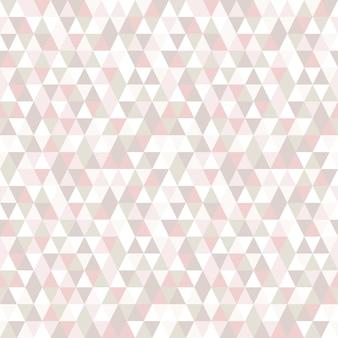 パステルカラーの三角形のシームレスパターン。
