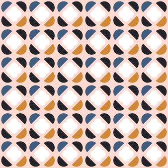 スカンジナビアスタイルの抽象的なシームレスな幾何学模様。