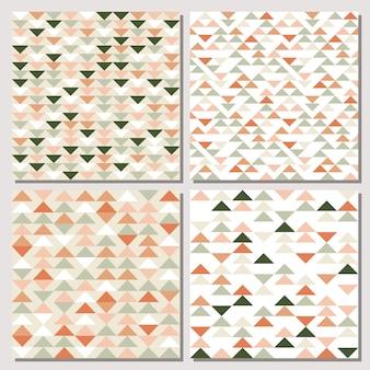 三角形のシームレスパターンのセットです。