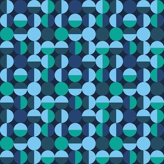 円形の装飾的なタイルパターン