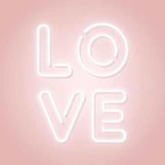 輝くテキスト愛と幸せなバレンタインデーのピンクのデザイン。