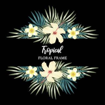 Рамка из тропических цветов