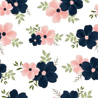 美しい花柄シームレス