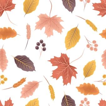 カラフルな秋のシームレスパターン
